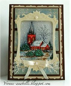 Church Snow Scene Christmas Card...