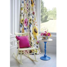 When it comes to decorating, installing bright curtains or drapes from Bluebellgray can instantly bring beautiful window treatments into your home. Bright Curtains, Shabby Chic Curtains, Drapes Curtains, Colorful Interior Design, Colorful Interiors, Contemporary Drapery Fabric, Cortinas Boho, Bluebellgray, Floral Bedding