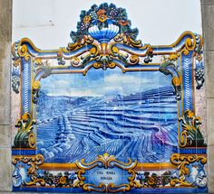 Tile mural at Pinhao Rail Station in Portugal