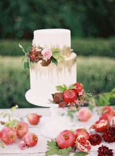 Gorgeous pomegranate infused wedding details! http://www.stylemepretty.com/collection/2835/