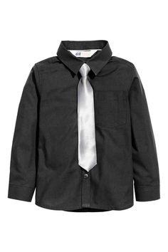 ボウタイ/ネクタイ付きシャツ | H&M