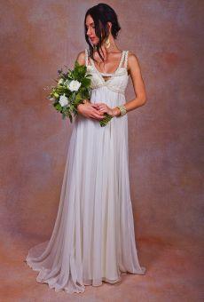 flowy-silk-chiffon-bohemian-beach-wedding-dress