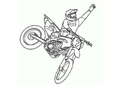 Dirt Bike Helmet Coloring Page