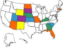 The colored states are where I have been and I want to color the whole map:)