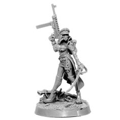 IMPERIAL SOLDIER FEMALE COMMISSAR WITH LASER PISTOL – Wargame Exclusive