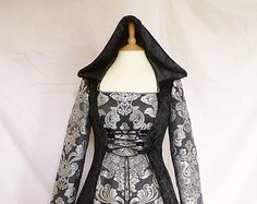 Custom made goth hooded dress medieval gown by DJmedievaldresses