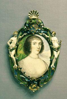 Miniature portrait set in a jewel of Venetia Stanley, Lady Digby (1600-1633)
