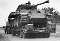 A Panther Ausf A recovered by Allied forces