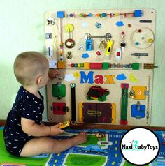 Personalized Busy Board Montessori toy Baby sensory board