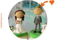 Fatti a mano - Decorazioni per torte in Decorazioni - Etsy Matrimoni - Pagina 3