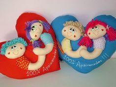 Almofada de coração com molde ( Dia dos namorados)