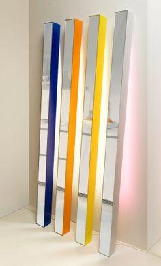 Miroir lampe SLIM design Bleu