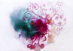 Se mi serie semillas. Desde un núcleo se expande la creación... acuarela sobre papel. #watercolor #art