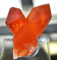 Red Hematite-Stained Quartz / Orange River, South Africa