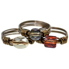 Sunset Dream Rings | Fusion Beads Inspiration Gallery