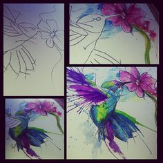 Watercolor Hummingbird Tattoo | Hummingbird Tattoo Ideas