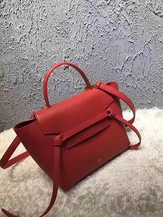Celine Micro Belt Handbag In Poppy Grained Calfskin 2017 Celine Micro a644713348a9e