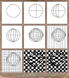 Op Art Kugler – www. Optical Illusions Drawings, Optical Illusion Quilts, Illusion Drawings, Art Drawings, Optical Illusions For Kids, Op Art Lessons, Art Lessons Elementary, Illusion Kunst, Illusion Art