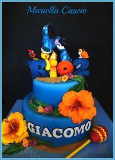 rio 2 cake - by Mariella Cascio Rio Birthday Parties, Birthday Party Desserts, Birthday Ideas, Fancy Cakes, Cute Cakes, Awesome Cakes, Rio Party, Luau Party, Rio Cake