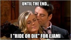 I am a #EJami fan for life!  The fact the actors are leaving the show is sad, but EJami will always be a part of my heart.