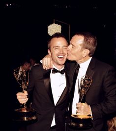 Aaron Paul and Bryan Cranston.  This picture makes me happy