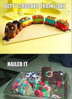 Train Cake Fail