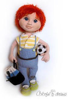 Crochet Pattern Boy Yasha por DollPatternsShop en Etsy
