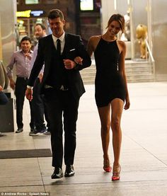 Closer than close: Robin Thicke and April Love Geary certainly looked every inch the smitten couple when they stepped out in New York on Thursday