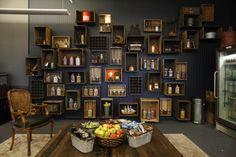 Wall storage via Taza Chocolate on Twitter.