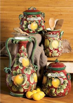 Hand painted Italian ceramics...