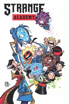 A SORCERER SCHOOL FOR THE MARVEL UNIVERSE! The Marvel Universe has mysteriously changed in such an alarming way that Doctor Strange has done what he's avoided for decades; he's opened a school for young sorcerers. Young people from around the worl. Marvel Comic Character, Marvel Comic Books, Marvel Art, Marvel Dc Comics, Skottie Young, Marvel Comic Universe, Comics Universe, Brother Voodoo, Baby Avengers