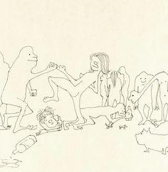 Imperfectos, simples, como si fueran realizados por un pequeño de 4 años, así son estos dibujos hechos a mano por el legendario ex-Beatle John Lennon con una sencilla pluma de color negro, en doren...