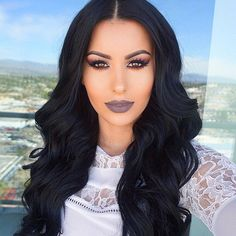 """#MermaidHair Clipped in my @bellamihair 20' extensions (code: amrezy foroff) @colouredraine """"Soul"""" liquid lipstick (code: amrezy for 10% off)"""