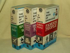 FLASH CARD SET 3 BOOK KNOWLEDGE QUIZ GAME 1960 ED-U-CARDS GROLIER PEOPLE EVENTS #EdUCards