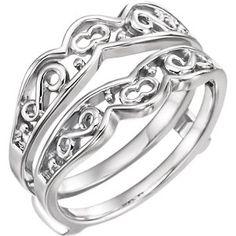 14K White  Ring Guard