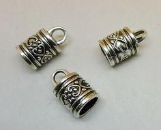 70 New Tiny Smooth Cross Tibetan Silver Tone Charms Pendants 7x13mm