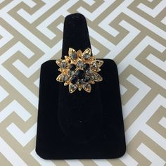 Black Gray Gold Sparkle Fashion Ring NWT Lil+Lo Lil+Lo brand. NEW NO TRADES Discounts with bundles only Lil+Lo Jewelry Rings