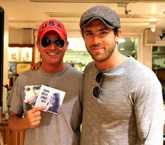 Meghan Trainor - Meghan's long-time fan, movie producer, Jonathon Komack Martin, with his business partner, Ryan Reynolds, came to Jewel of the Isle to surprise Meghan but ended up posing with 2 of Meghan's CD's while on a break from filming their new movie, R.I.P.D. in Boston.