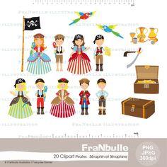 Cliparts  Illustrations numériques  Pirates : par FraNbulle sur Etsy