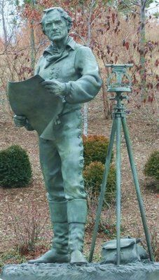 Jefferson surveyor statue