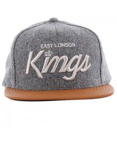 KING apparel ELK SCRIPT Starter strapback CAP GREY Strapback Cap 1a584cc3c1ef