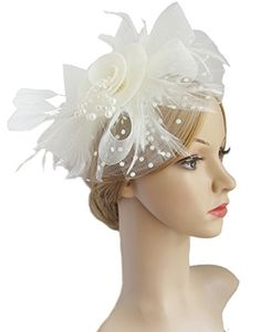 Flower Cocktail Tea Party Headwear Feather Fascinators To... https://www.amazon.com/dp/B06ZZP99N3/ref=cm_sw_r_pi_dp_x_90kVzbESG8E89