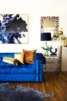 Exceptional 15 Colorful Reasons To Break From The Neutral Sofa. Blue Velvet CouchRoyal  ...