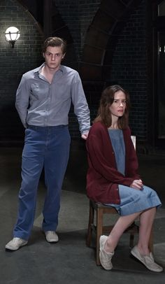 Evan Peters and Sarah Paulson in, American Horror Story: Asylum. ___i love the entire cast but i have my favorites. Evan, Sarah, & taissa, well & my favorite classic bitch<3 Jessica Lange<3