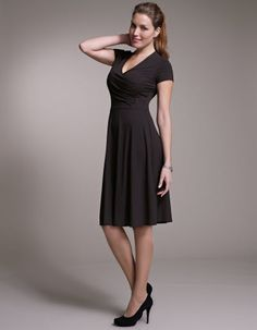 Perfectly Simple Wrap Jersey Dress