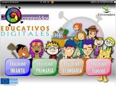Educarex, el portal educativo de la Junta de Extremadura , con una estética divertida y atractiva, ofrece una completa página en la que se pueden encontrar múltiples recursos divididos por ciclos educativos: Educación Infantil, Primaria, Secundaria y Educación Especial.