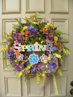 Spring Easter Grapevine Floral Door Wreath - Decoration - Holiday - Home Decor