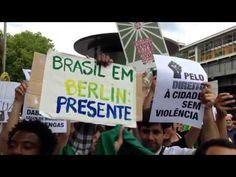 Manifestação em Berlim em apoio aos protestos no Brasil