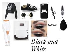 Black and White by drewblue839 on Polyvore featuring polyvore fashion style adidas Converse JanSport beautyblender Rimmel clothing