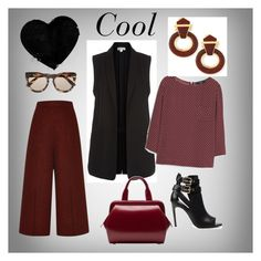 """Cool"" by steffyyeah ❤ liked on Polyvore featuring Whistles, MANGO, Proenza Schouler, Burberry, Lulu Guinness, David Webb and Le Specs"